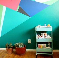 Idées de peinture murale à regarder les plantes de géométrie frais triangle Flowerpot