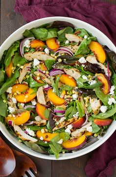 peach salad with grilled basil chicken5+srgb.