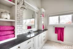 Child bathroom designed by Melissa of Veranda Interiors