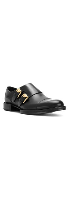 Versace side-buckle loafers
