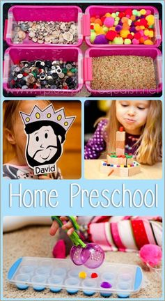 Preschool at Home from @{1plus1plus1} Carisa {Spielgaben, Integrity Time, All By Myself Preschool Boxes}