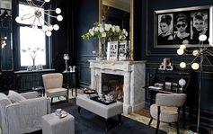 Salon glamour pata de gallo   Material: Algodon   Ambiente de salon realizado en pata de gallo en blanco y negro. Tapizado con tejido de algodon 100 ... Desde Eur:423 / $562.59