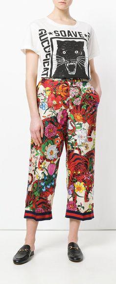 Gucci Floral Print Trouser