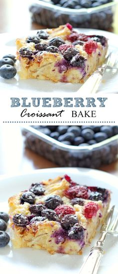 Blueberry Croissant Bake - Cakescottage