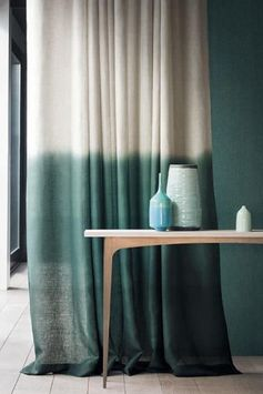 Le lin dans la décoration - rideaux curtains tie and Dye