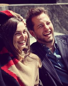 """She makes me laugh so hard it hurts."" Derek Blasberg on his campaign costar Andreea Diaconu."