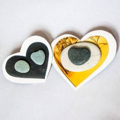 Make heart stones jewelry #ValentinesDIY