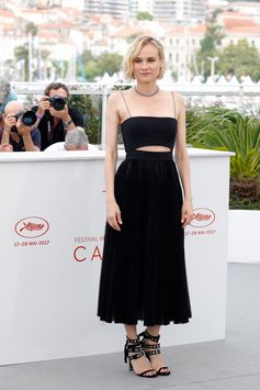 Diane Kruger made an appearance wearing a custom-made dress from BOSS at the photocall of 'In The Fade'