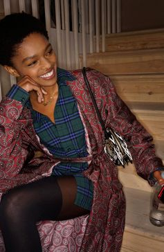 Selah Marley wearing Burberry at Old Sessions House in London for the September 2017 Burberry show
