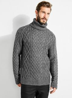 The Wharf Cable-Knit Sweater | Stay warm in style in this cable-knit sweater, complete with a ribbed turtleneck and long sleeves.