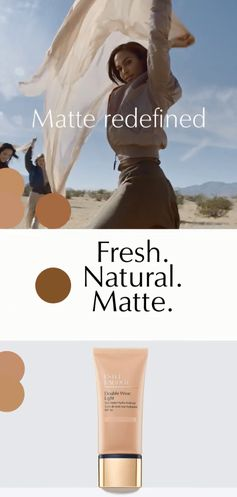 Available in 28 shades, matte has a fresh new attitude. Keep skin fresh, comfortable and shine-free with Estée Lauder Double Wear Light.