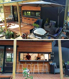 The Interior Of This Tiny House Manages To Fit Two Lofted Bedrooms