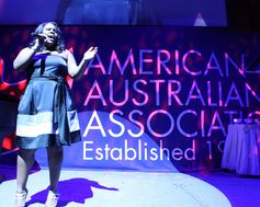 Singer Amber Riley. The American Australian Association Benefit Dinner.