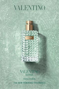 Valentino  Parfums  introduces  a  fresh  and  elegant  new  fragrance  for  women:  Valentino  Donna  Rosa  Verde.  A  scent  radiating  with  freshness,  captured  in  a  luminous  and  unexpected  collision  of  ingredients, Valentino Donna Rosa Verde reveals a new dimension  within Valentino fragrances.