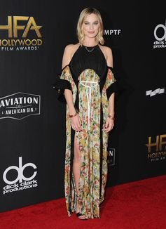 Margot Robbie wearing a dress from the Louis Vuitton Spring-Summer 2018 Collection by Nicolas Ghesquiere to the 21st Annual Hollywood Film Award in Beverly Hills.