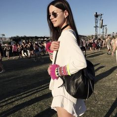 Fashionvibe oozes a stylish boho look, wearing her favourite Folli Follie backpack.