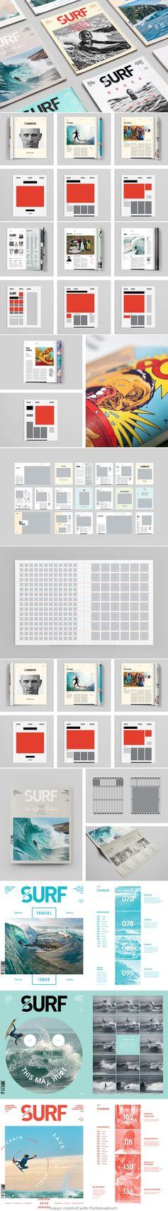 Surf magazine grid layout