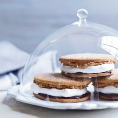 Recipe for Chocolate-Peanut Butter Moon Pies from the pastry chef at City House