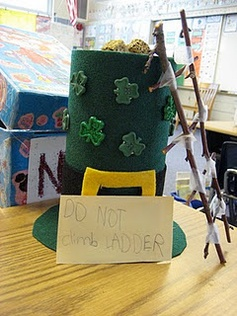 Leprechaun traps!  Cute homework idea for March!