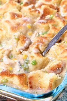 Lazy Biscuit Chicken Pot Pie Casserole