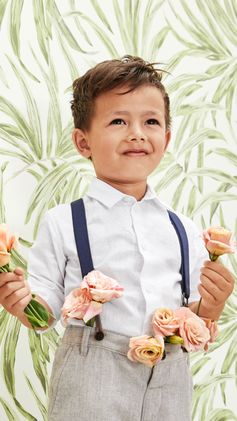Adorable suits, breezy tunics and crisp shirts — discover our selection of playful fashion favorites for little party animals. Now in store and online. | H&M Kids
