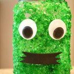 Halloween Crafts for Kids~Pumpkin and Monster Jars