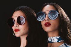 Hot duo: Vittoria Ceretti and Yasmin Wijnaldum  with the shades of the moment: Fendi Run Away