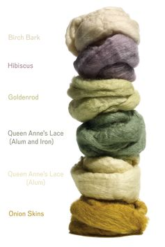 How to make your own natural dyes.