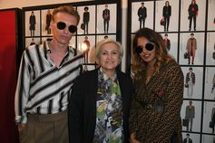 Jamie Campbell Bower, Silvia Venturini Fendi and M.I.A. at the Fendi Men's Spring/Summer 2019 Fashion Show.