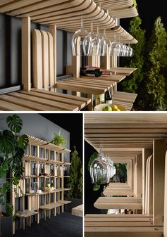This Wall Of Shelves Can Easily Change To Hold A Variety Of Different Items