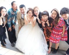 [Party report] 大切なゲストと思い出に残る一枚を。 weddingdress wedding beash resort party friends love
