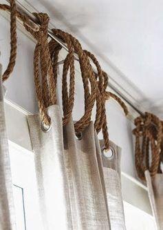 La corde n'est pas réservée aux bateaux et s'invite sur nos rideaux !