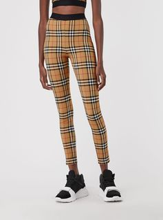 #Burberry Vintage check leggings in soft stretch jersey, tagged with subtle Burberry lettering