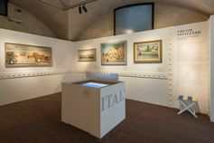 #1927ReturnToItaly - Room 2 from the new exhibition at the Ferragamo Museum in Florence.