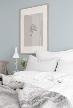 Une couleur apaisante pour le mur de la chambre #pastel #chambre #dccv