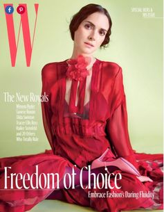 Winona Ryder graces the cover of  WMagazine in FENDI Fall/Winter 2017-18, October  2017