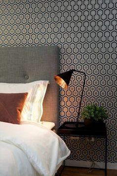 joli design de papier peint castorama, chambre à coucher avec papier peint