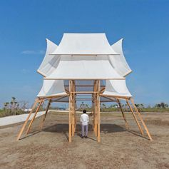 The Sailing Castle Pavilion by Cheng Tsung Feng. #ModernDesign #Sculpture #Pavilion #Design