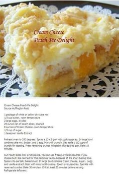 Cream Cheese Peach Pie Delight