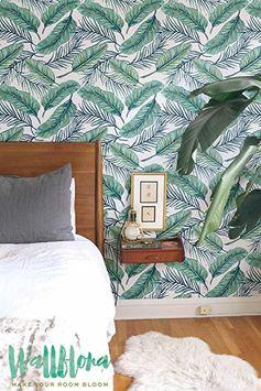 Sin costuras Tropical Jungle Palm-extraíble-Papel pintado, diseño de hojas Tropical Palm hojas-Adhesivo de Pared-Papel autoadhesivo., 53 Cm wide by 121 Cm Tall: Amazon.de: Baumarkt
