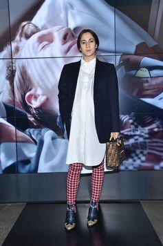Delfina Delettrez Fendi at the Fendi Men's Fall/Winter 2018-19 Fashion Show