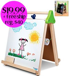 Bonton.com:  Discovery Kids 3-in-1 Artist Tabletop Easel = $19.99 + FREE Shipping! Regularly $40! Today only!