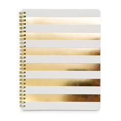 White Cabana Stripe Notebook