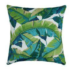Tropical Teal et vert concepteur coussins/couverture, coussin, Tropical en plein air Throw Pillow, Accent Teal Turquoise marine extérieure verte coussins/couverture