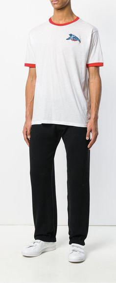 Off-White Contrast Trim T-Shirt