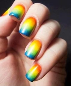 Rainbow Nails: Ombre