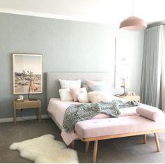 chambre gris rose blush deco feminine