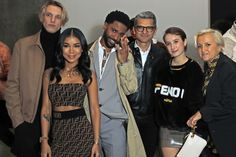 Jamie Campbell Bower, Jhene Aiko, Big Sean, Serge Brunschwig, FENDI President and CEO, Leonetta Luciano Fendi and Silvia Venturini Fendi at the FF Reloaded Experience in London.