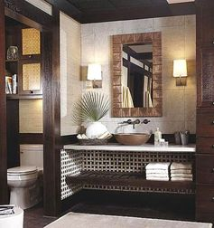 Tropical-Style Bathroom Vanity
