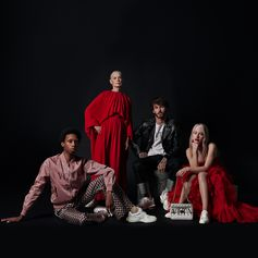 Here portrayed on set after their dedicated acts, all the characters giving their interpretation of the VLTN world. Protagonists: Lucinda Childs, Tia Jonsson, Parker Kit Hill, David Alexander Flinn. Film shot by Agostina Galvez and produced by Rosco Production